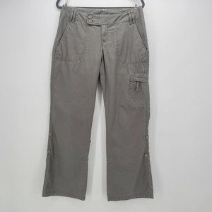 The North Face Gray Roll-Up Pants Womens 8